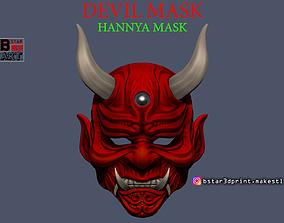 3D print model Devil Mask-Hannya Mask-Samurai Mask-Satan 2