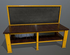 bar workbench 3D model low-poly
