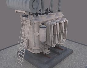 3D model Electrical Transformer type 2