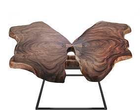 3D model table slab butterfly