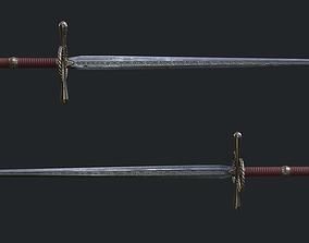 Two handed sword 01 3D asset
