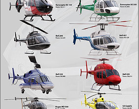 Helicopters Collection 3D