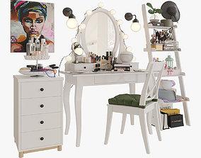 MakeUp Ikea Hemnes big set 3D
