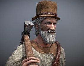 Peasant Villager Old Man 3D model