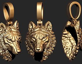 pendant wolf 3D print model animal