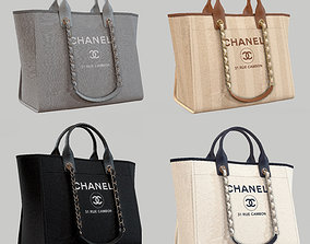 3D model CHANEL Shoper Bag Canvas Deauville Tote