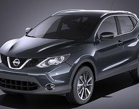 3D model Nissan Qashqai 2016 VRAY