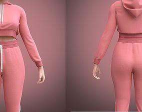 3D model figure FEMALE TRACKSUIT