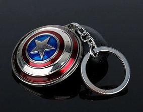 Captain America Keychain 3D print model cartoon