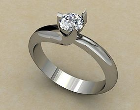 3D print model white gold engagement ring