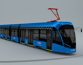 Tram tramway troll trolleybus bus 3D model