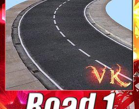 3D model Realistic Road High Res 5980 x 4248