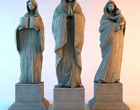 3D asset Bronze statue