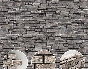 3D model Stone rock brick wall