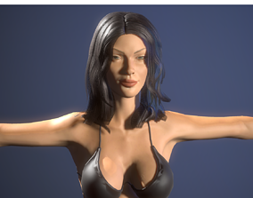 3D female figure
