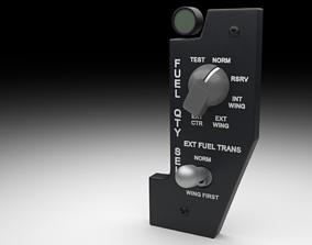 3D model F16 Fuel Quantity Selector Panel