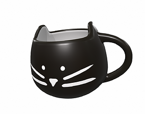 Black cat cup 3D