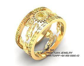3D print model 692 Lucky Horse Ring