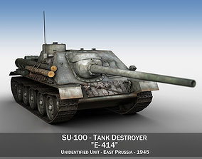 SU-100 - E414 - Soviet Tank Destroyer 3D