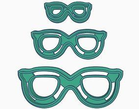 3D printable model Glasses V2 Cookie Cutter Set