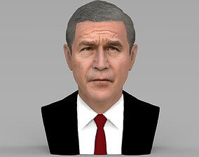 President George W Bush bust ready for full color 3D
