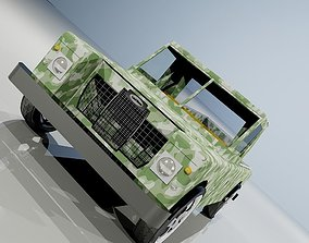 1970 UK car LAND ROVER 3D