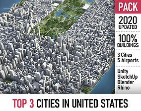 3D Top 3 US Cities