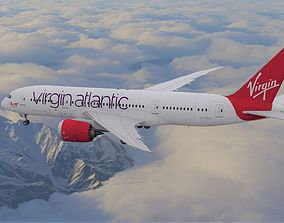 Boeing 787 Dreamliner Virgin Atlantic aircraft 3D