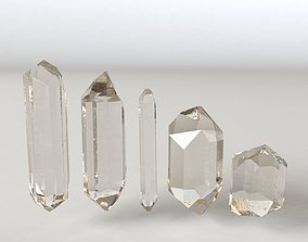 3D asset Crystal 5 types