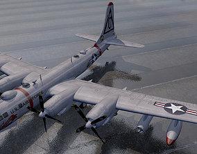 3D model Boeing B-50 Superfortress