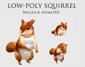 3D model squirrel chipmunk chipmuck chippy animation
