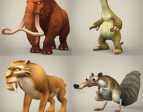 Ice Age Animal Collection 3D model