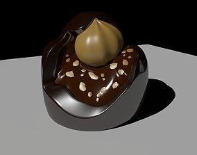 Chocolate bacio perugina 3D