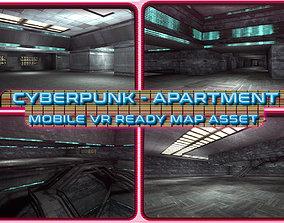3D asset Cyberpunk Apartment Interior - 01 - Mobile VR 3