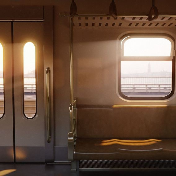 Inside of the train