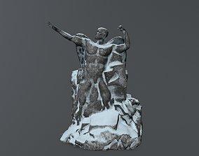 3D model realtime Man statue 1