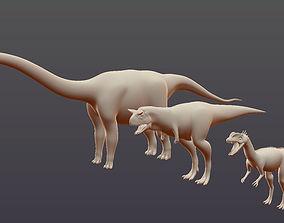 3D model Dinosaur base mesh - Pack 03