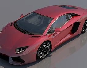 Lamborghini Aventador Red 3D