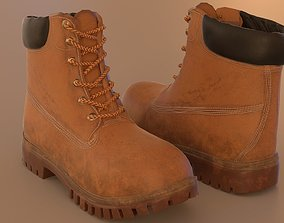 Hiking boots 3D model game-ready