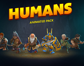 Humans animated pack 3D model