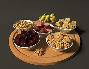 3D other plate with snacks