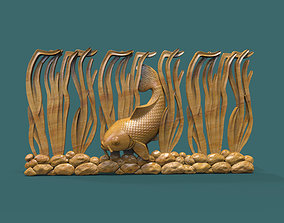 Underwater fish 3d stl model for cnc
