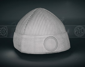 3D model low-poly White Beanie