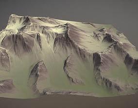 3D model game-ready Mountains Terrain
