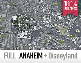 3D model Anaheim - full city and surroundings