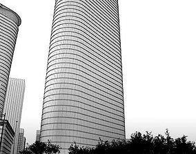 3D model Modern Office Skyscraper Building