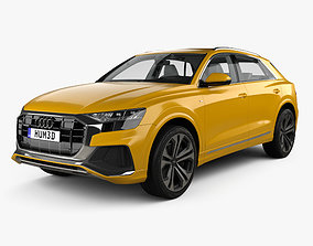 Audi Q8 S-line with HQ interior and engine 2018 3D