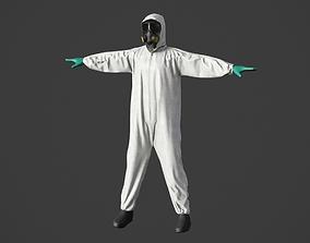 3D model Hazmat Worker Clothes