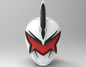 White Ranger Helmet from Dino Thunder for 3D