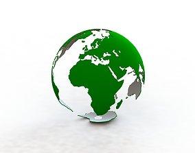 Earth 3D print model earth